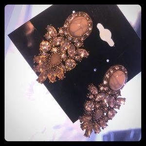 Marble crystal statement earrings